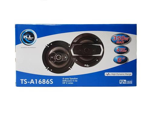 par parlantes para carro kl ts-a1686s 350w 6 pulgadas 16 cm