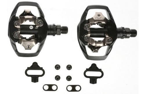 par pedal clip shimano m530 preto novo c/ tacos rosca 9/16