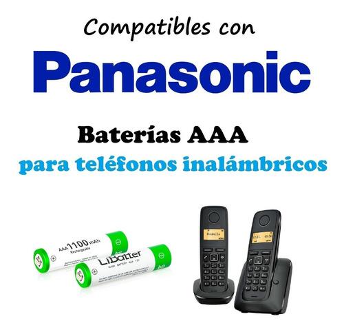 par | pilas / baterias recargables aaa | telefonos panasonic