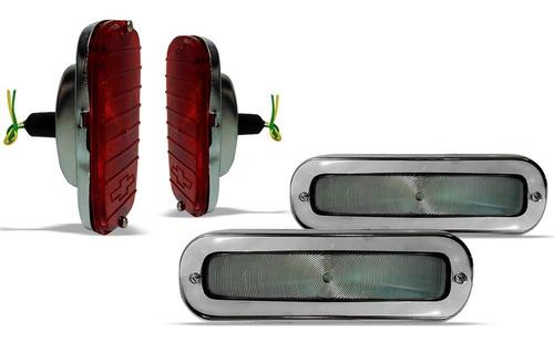 par pisca dianteiro cristal + lanterna traseira a10 c10 d10