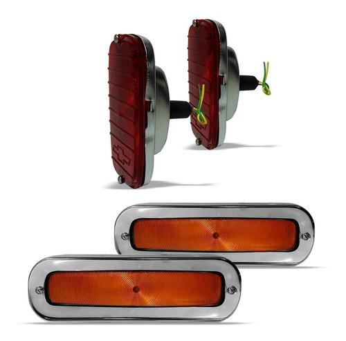 par pisca dianteiro laranja + lanterna traseira a10 c10 d10
