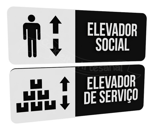 par placas preta elevador serviço e social hotel consultório