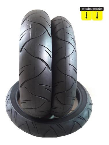 par pneu 130/70-17 e 110/70-17 furia twister fazer next