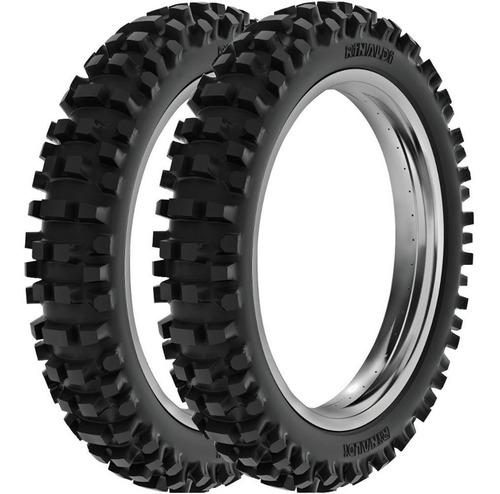 par pneu bros trilha 90/90-19 + 100/90-17 sh31 rinaldi
