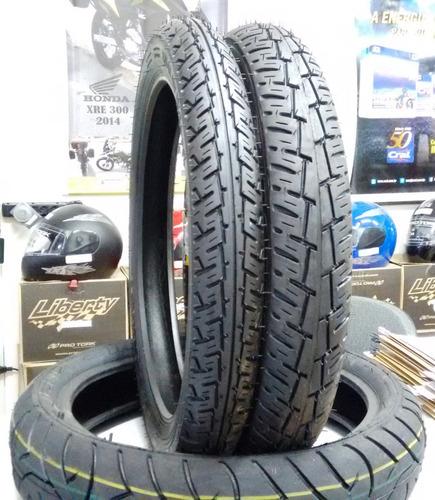 par pneu cg 150 titan novo diant + tras 2009 - 0146