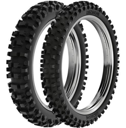 par pneu cross trilha xr200 400-18 + 300-21 sh31 rinaldi