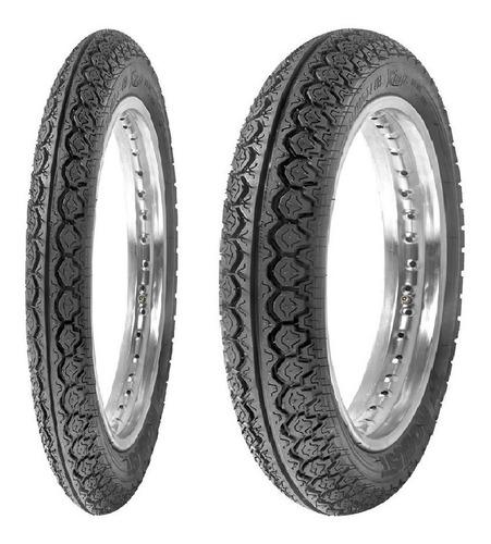 par pneu honda biz 100 110 125 (não é remold) robust 1ªlinha