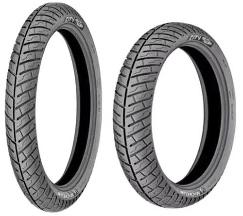 par pneu intruder 125 2.75-18+3.50-16 michelin city pro