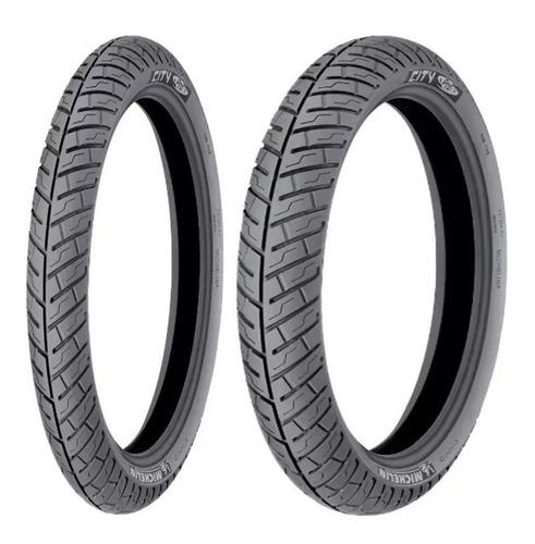 par pneu mirage 150  city pro 3.50-16 + 80/100-18 sem câmara