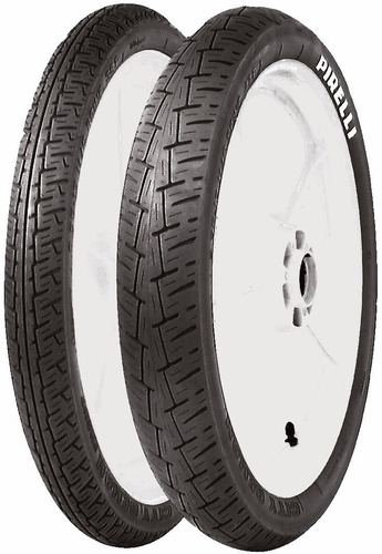 par pneu pirelli 275-18 + 90/90-18 city demon c/camara