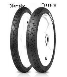 par pneu pirelli 80/100-18 + 90/90-18 city demon c/camara