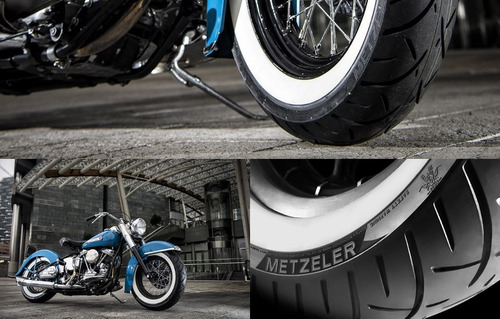par pneu shadow 750 faixa branca 130/80-17 170/80-15 metzele