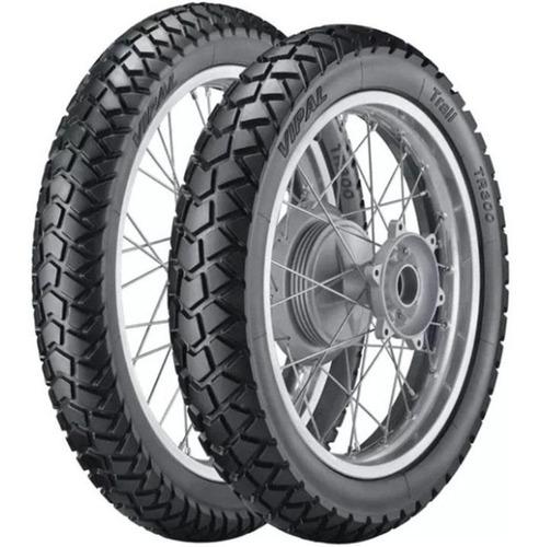 par pneu xr250 lander 120/80-18 + 80/90-21 tr300 vipal