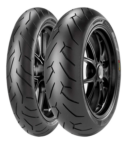 par pneus hornet 180/55-17 120/70-17 pirelli diablo rosso 2