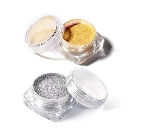 par polvo de cromo magic mirror uñas espejo oro y plata