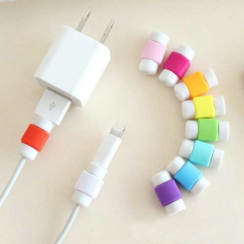 par protector cable cargador usb iphone samsung ipad macbook