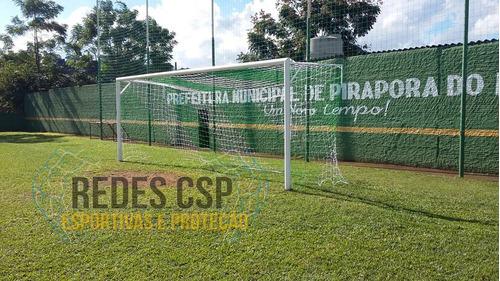 par rede gol futebol de campo fio 6mm - méxicano -  oficial