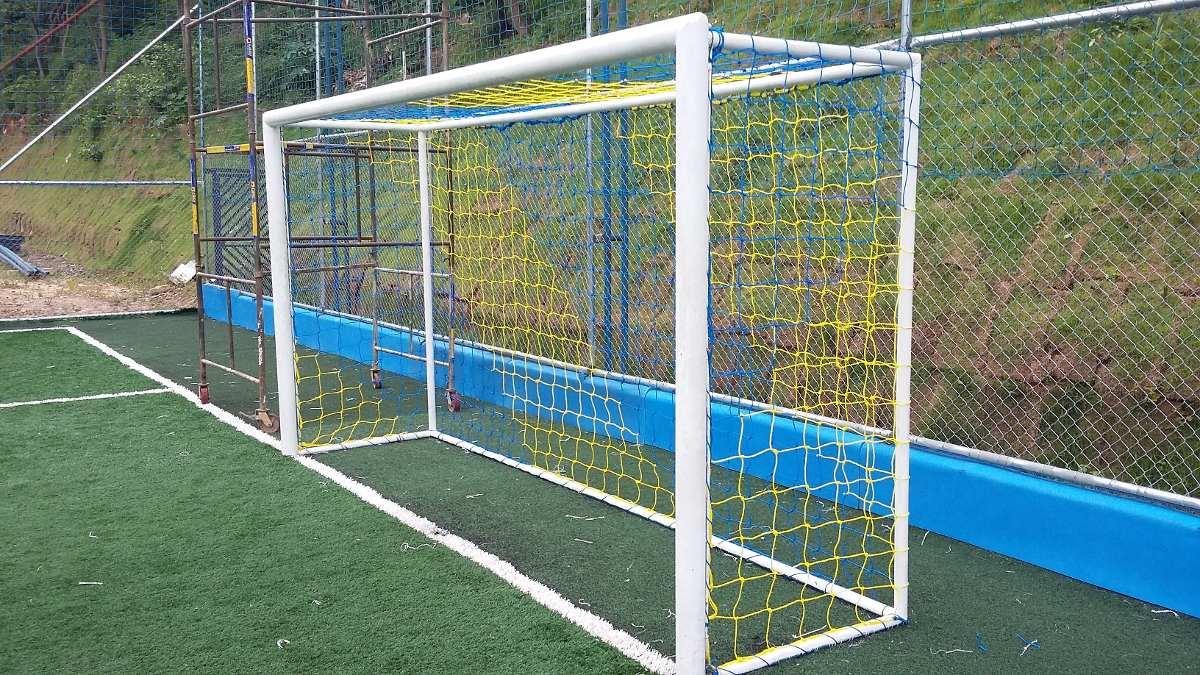 par rede gol futebol society caixote fio 4mm - 5 metros. Carregando zoom. ad632dc2af79b