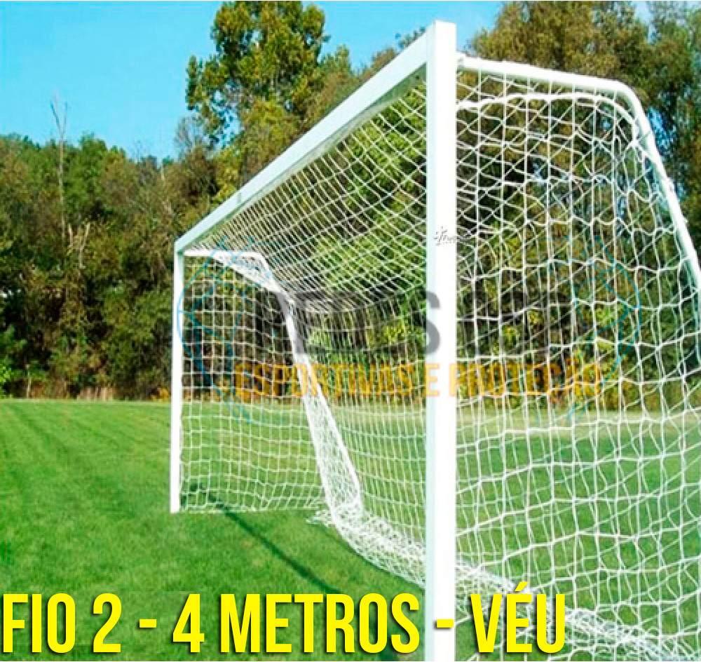 par rede gol futebol society fio 2mm - 4 metros - véu. Carregando zoom. 450992e6c6fb1