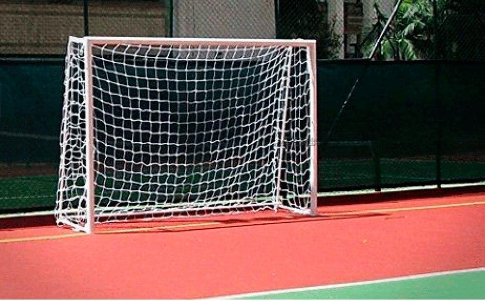 a222ec7cd4 par rede gol futsal futebol de salão fio 4mm oficial. Carregando zoom.