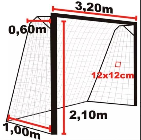 Par Rede Para O Gol Trave Futsal Futebol De Salão - R  116 bbecd9190433b