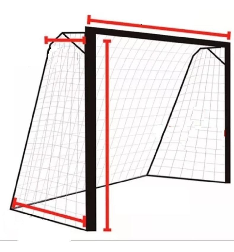 670b11d5d Par Rede Para O Gol Trave Futsal Futebol De Salão - R$ 116,90 em ...
