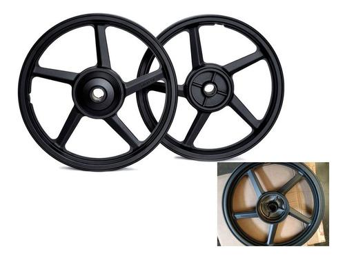 par rodas liga leve modelo 5 palitos yamaha ybr factor 125 2003 freio tambor 2 rodas e uso de câmara de ar 2 rodas