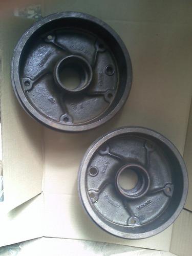 par tambor freio dianteiro kombi 1200 corujinha cubo origina
