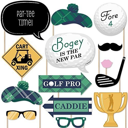 par-tee time - golf - kit de apoyos para fotomatón - cuenta