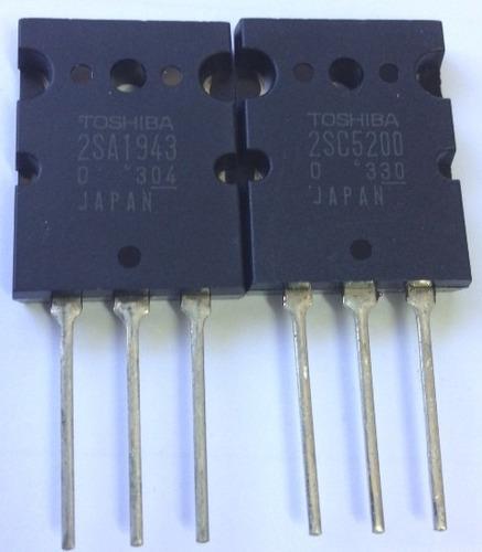 par transistor 2sc5200-0 + 2sa1943-0 toshiba - original
