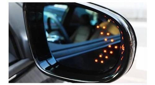 par (x2) direccionales led carro moto lujo amarillas espejos