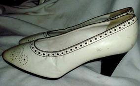 Blancos Ives Saint Par Laurent Nº36 Zapatos Pespunteados tsQdhrC