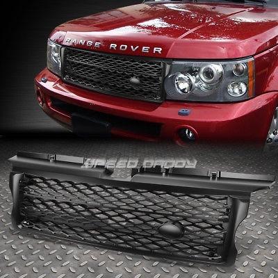 para 06-09 range rover sport l320 negro abs honeycomb mesh