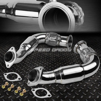 STAINLESS TURBO EXHAUST FLEX DOWN PIPE FOR 08-14 X6//X5//5-//7-SERIES N63B44 4.4 V8