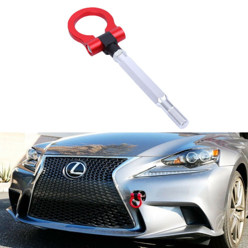 Sports Red Track Racing Style CNC Aluminum Tow Hook For 15-up Subaru WRX or STI