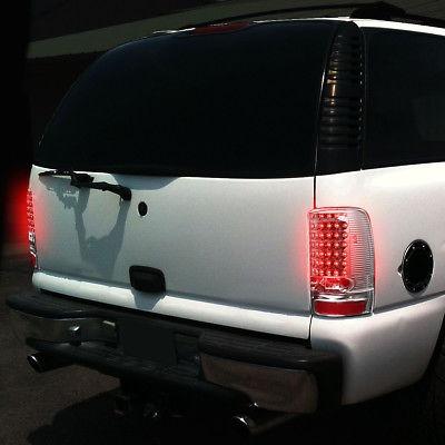 2000-2006 Chevy Denali Yukon Tahoe Tail Lights Brake Lamp Red// Clear