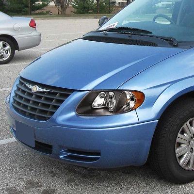 Spec-D Tuning 2LH-CAR01JM-RS Dodge Caravan Chrysler Town /& Country Grand Voyager Black Amber Headlights