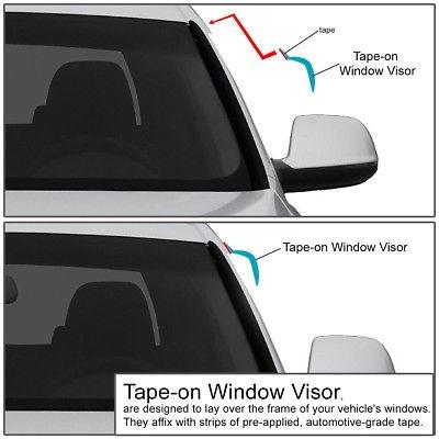 FOR 92-00 CHEVY//GMC C//K SERIES SMOKE WINDOW VISOR//WIND DEFLECTOR VENT RAIN GUARD
