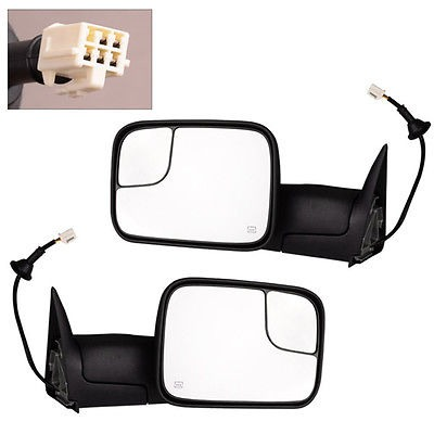 Power Heated Telescoping Tow Mirror L//R For Dodge Ram 1500//98-02 2500 3500 98-01