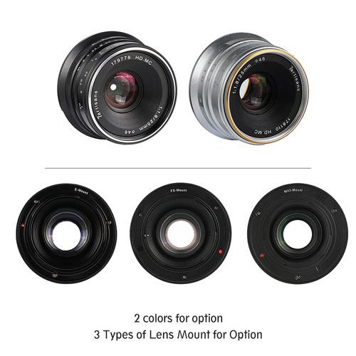 para abertura lente foco manual de 7artisans 25mm 7artisansg