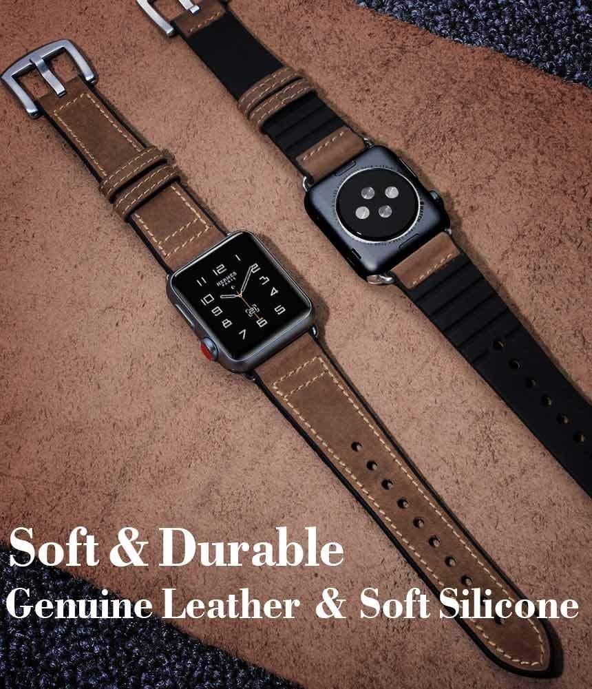 separation shoes 8701e 830d4 Para Apple Watch Band 42mm Cuero Ocyclone Híbrido Bandas ...