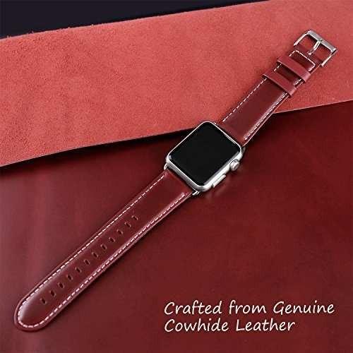 para apple watch band 42mm, ouheng retro vintage cuero genui