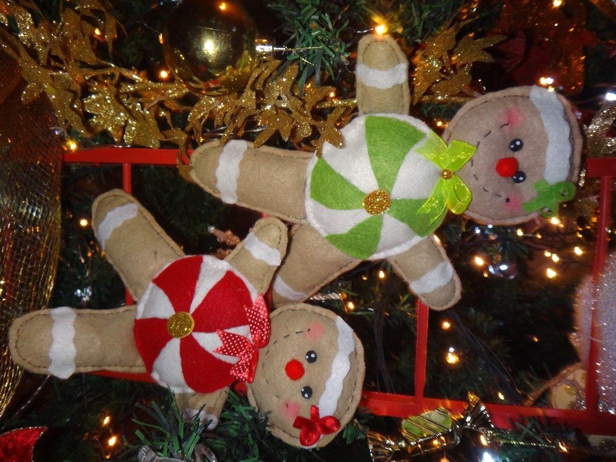 d83376beee3e8 Cargando zoom... combo adornos navideños para arbol galletas de jengibre.