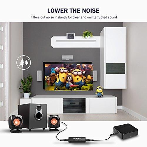 para audio mpow ground loop aislante ruido auto