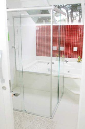 Box Para Banheiro Osasco E Sp Em Vidro Temperado  R$ 210,00 em Mercado Livre -> Box Para Banheiro Pequeno Mercado Livre