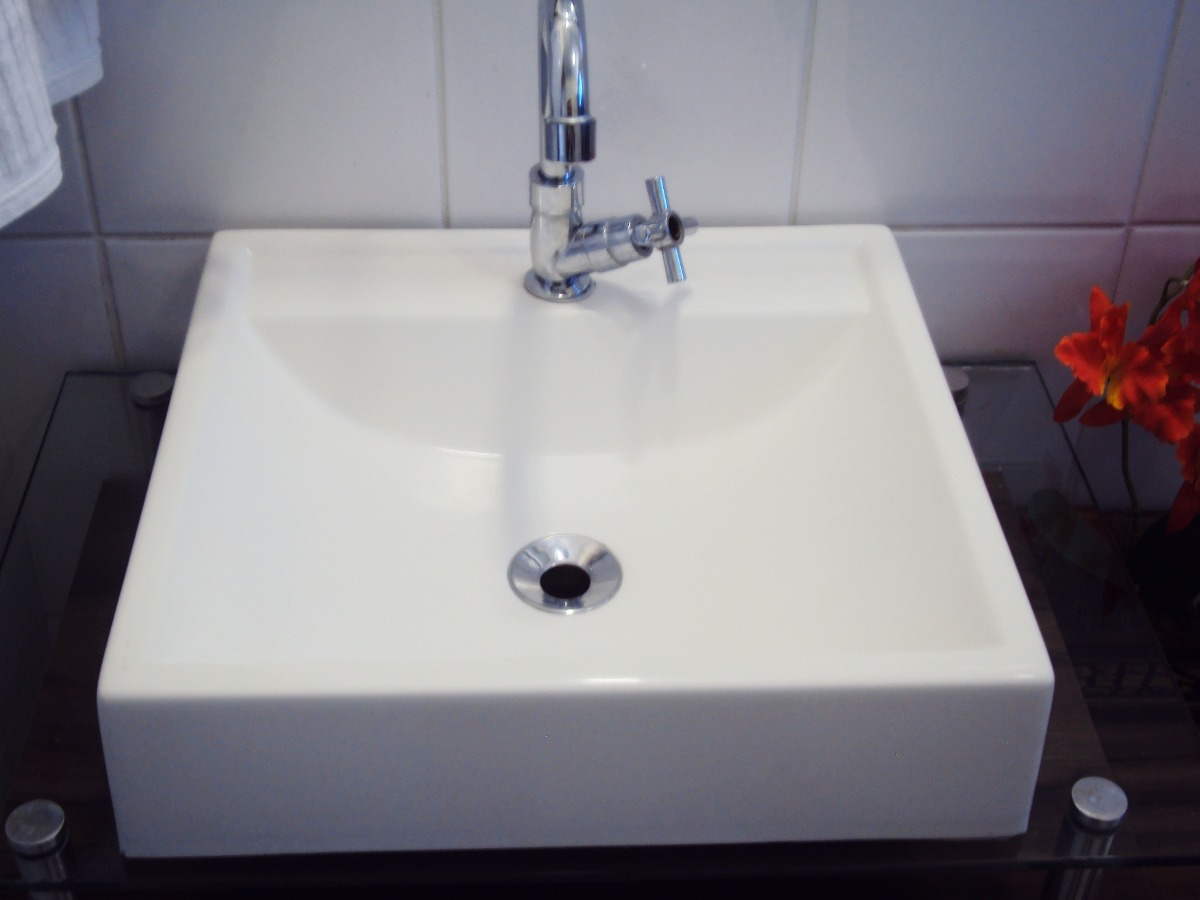 Cuba De Apoio Tendência Lavatório Para Banheiro E Lavabo  R$ 85,90 em Mercad -> Cuba Para Banheiro De Embutir