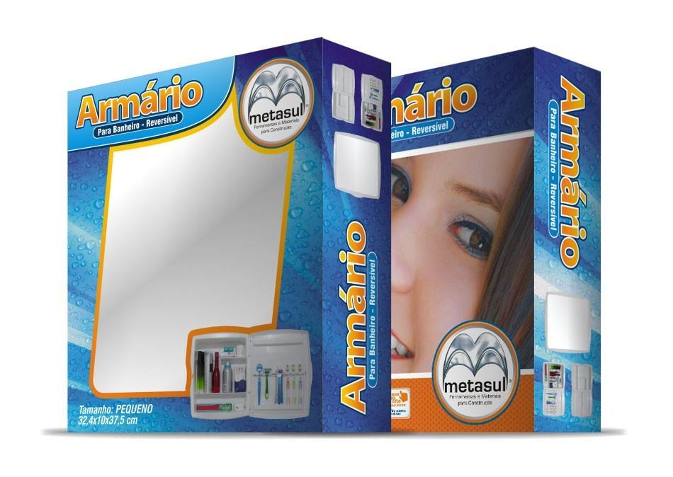 Adesivo Para Salao De Jogos ~ Armário Espelho Para Banheiro Em Abs Caramelo Metasul R