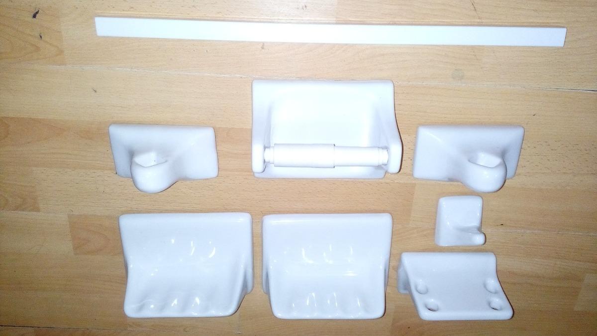 accesorios para ba o porcelana blanca en