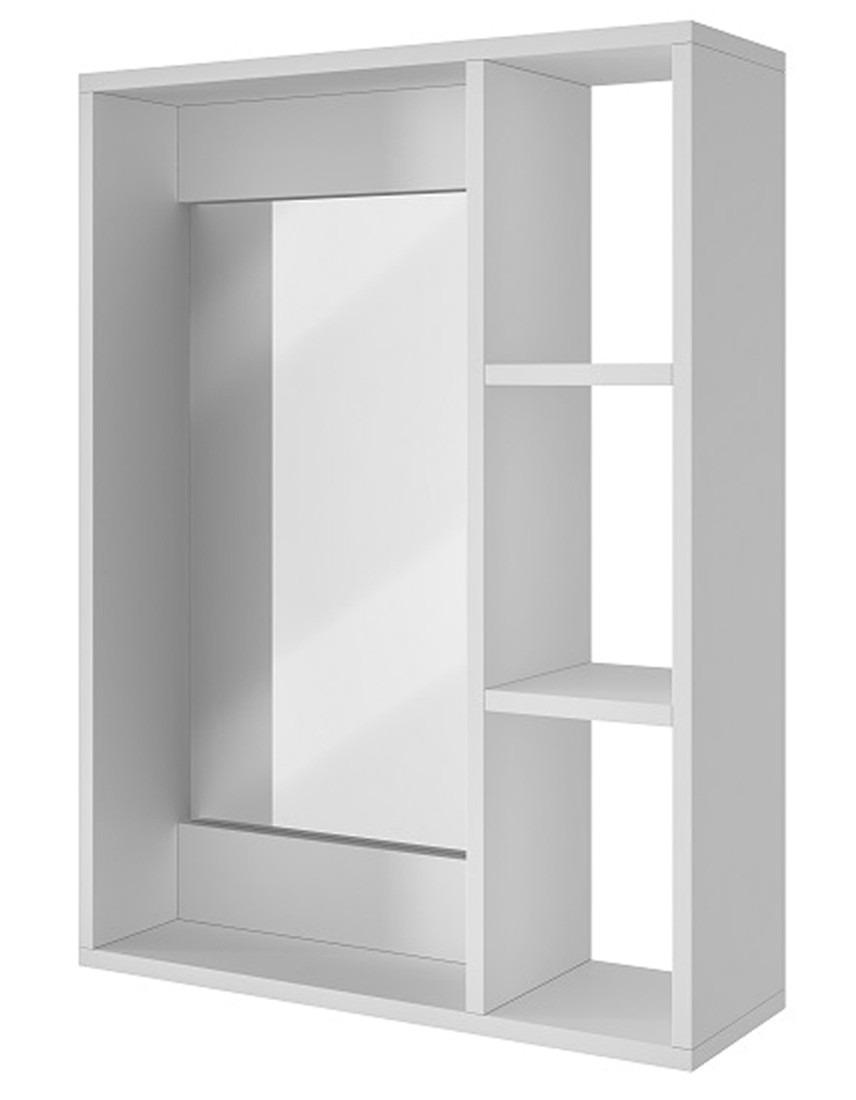 Gabinete pared para ba o con espejo y repisas bbn 03 06 for Gabinetes de bano en madera