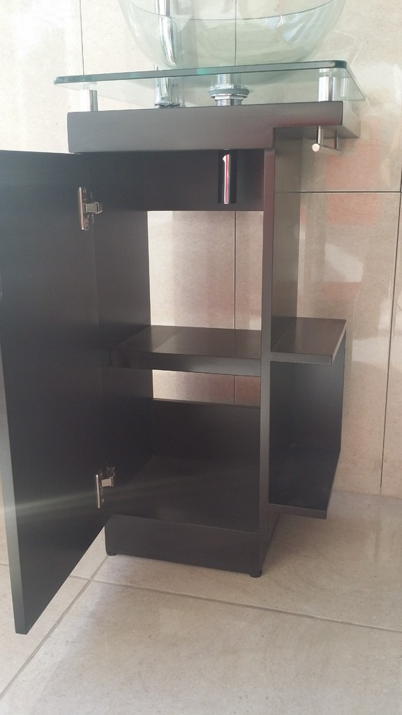 Moderno mueble para ba o con ovalin de cristal barato - Muebles de bano en sevilla ...